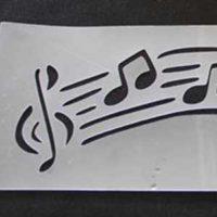Stencil NOTAS MUSICAIS