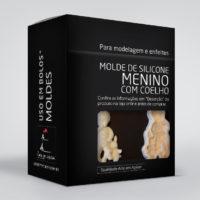 Molde silicone MENINO COM COELHO