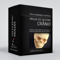arte em acucar molde cranio box single