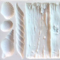Molde silicone ripas corda e conchas