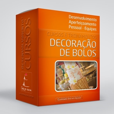 arte em acucar curso de decoracao de bolos c07 box single