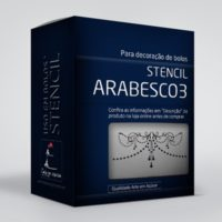 arte em acucar stencil arabesco 3 st17 box single