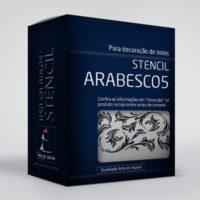 arte em acucar stencil arabesco 5 st20 box single