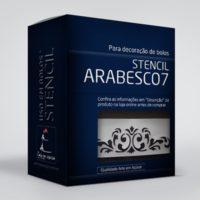 arte em acucar stencil arabesco 7 st29 box single