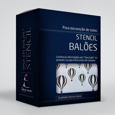 arte em acucar stencil baloes box single