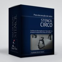 arte em acucar stencil circo st35 box single
