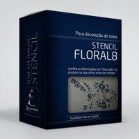 arte em acucar stencil floral 8 st32 box single