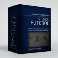 arte em acucar stencil futebol st37 box single