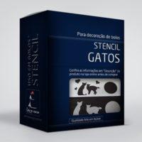 arte em acucar stencil gatos st09 box single