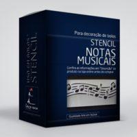arte em acucar stencil notas musicais st04 box single