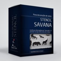 arte em acucar stencil savana st18 box single