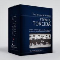 arte em acucar stencil torcida st10 box single