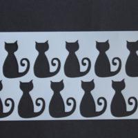arte em acucar stencil gatinhos st41