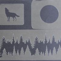 arte em acucar stencil paisagem st44